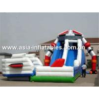 China Creative Inflatable Slide In Robot Shape For Children Sliding Games on sale