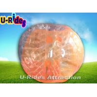 Wholesale Tpu 1.5M Orange Soccer Bubble Ball / Outdoor Inflatable Body Bumper Ball from china suppliers