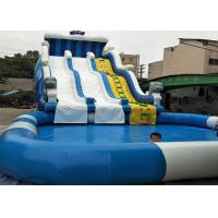 Sea Fish Commercial Inflatable Water Slides Customized Size With Pool