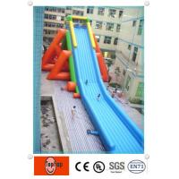 Wholesale 0.55mm PVC tarpaulin long blow up water slides for adults exciting water games from china suppliers