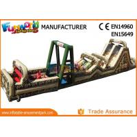 Fireproof Giant Inflatables Obstacle Course Tunnel For Amusement Park