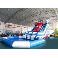 Quality Huge Inflatable Water Parks With Swimming Pool /  Kids Water Slide for sale