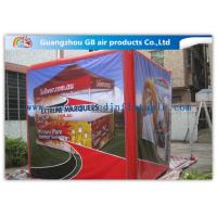 Fire - Proof Red Inflatable Cube Tent Custom Printed Tent for Advertising
