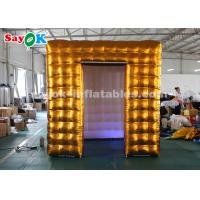 Wholesale Golden Cube 2 Doors Inflatable Photo Booth with Air Blower for Exhibition from china suppliers