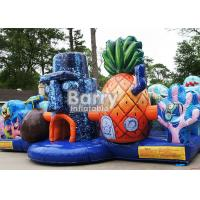 Wholesale Backyard Inflatable Bounce House For Playland Inflatable Spongebob Toddler Obstacle from china suppliers