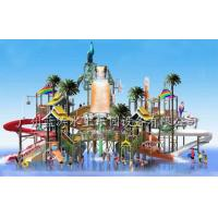 China Outdoor Water Playground Equipments with water house and water slide for water park on sale