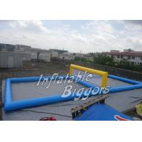 China PVC Blue Inflatable Water Volleyball Set For Floating Water Park Games on sale