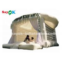 Quality commercial outdoor white inflatable bouncer house for wedding for sale