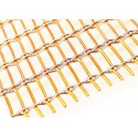 Wholesale 2500mm Width Copper Laminated Wire Mesh For Architectural Art Glass Partition from china suppliers