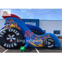 Car Style Inflatable Bounce Dry Slide For Amusement Park Playground
