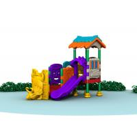 Little Kids Outside Playset / Kids Plastic Play Structure With Slide  TQ-QS004
