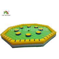 Wholesale Outside Yellow Challenge Inflatable Meltdown Sport Game With Rotative Machine from china suppliers