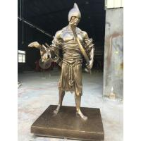 Wholesale Brass Powerful Garden Ornaments Statues Soldier Figure Statuary Ancient Art Design from china suppliers