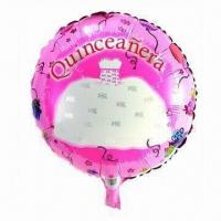 Wholesale 18-inch Party Foil Balloon, Made of PA and PE and AL, Customized Orders are Accepted from china suppliers