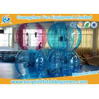 Blue / Green / Pink Human Sized Bubble Ball Inflatable Hamster / Fuzzy Football