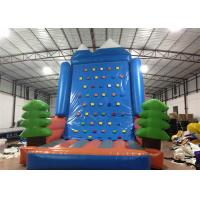 Wholesale Amusement Park Inflatable Rock Climbing Wall Sports Games Straight inflatable climb wall with the pine trees from china suppliers
