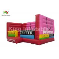 China Child 0.55mm PVC Inflatable Bounce Castle With Blower Shopping Bags Shaped on sale
