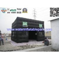 Wholesale Custom Inflatable Advertising Tent , Black Inflatable Photo Booth Tent from china suppliers