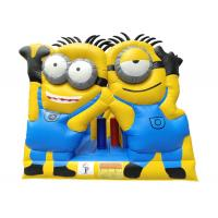 Wholesale Children's inflatable Minions bounce house yellow jumping castle with slide home use from china suppliers