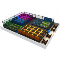 Big Bounce Indoor Trampoline Park Equipment EU Standard With Foam Pit Block
