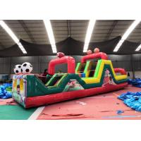 Wholesale Colorful Soccer Massive Inflatable Obstacle Course For Kids 0.55mm PVC Material from china suppliers