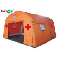 China Waterproof Oxford And PVC Material Inflatable Dome Tent Inflatable Medical Relief Tent for sale on sale