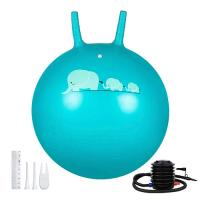 Wholesale Kids PVC Space Hopper Ball Inflatable Toy Yoga Ball With Handle SGS Certificate from china suppliers