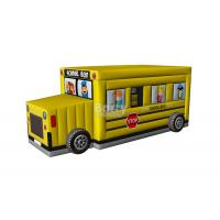 Commercial Inflatable Car Bounce , School Bus Bounce House Inflatable For Kids