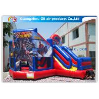 Wholesale Commercial Spiderman Inflatable Bouncy Castle Kids Inflatable Bouncer With Slide from china suppliers
