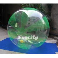 China Green and Clear Color OEM PVC or 0.8MM TPU Inflatable Water Walking Ball for Water Sports Games on sale