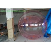 Quality Pink Water Walking Ball Transparent Summer Fun Park Water Equipment For Tourist for sale
