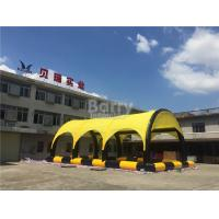 Wholesale Customized Yellow PVC Tarpaulin Inflatable Tent With Pool , Inflatable Shelter from china suppliers