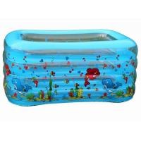 Wholesale 4-Ring Spare PVC Inflatable Swimming Pools With Marine Pattern Printing from china suppliers