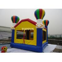 Wholesale PVC Tarpaulin Kids Inflatable Bouncy Castle With Balloons 4 x 4 m Custom from china suppliers