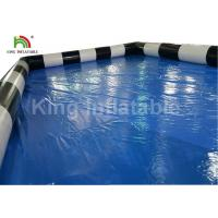 Buy cheap Commercial Blue Inflatable Swimming Pool For Adults Fun With CE Blower from wholesalers