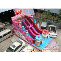 Wholesale Pink Commercial Inflatable Slide Combo Fun Games With Logo Pringting from china suppliers