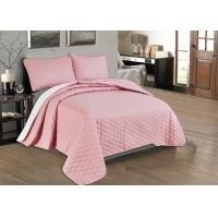 Wholesale Beautiful Pink Quilted Coverlet Custom Made Bedspreads Full Size Bedspread from china suppliers