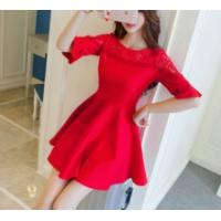 Wholesale red long wedding dress from china suppliers
