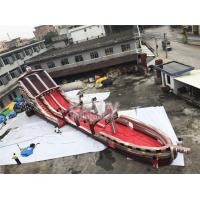 China Giant Long Pirate Theme Inflatable Slip N Slide Water Slide With Pool For Big Event on sale