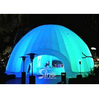 Wholesale 8m dia. trade show led light inflatable dome tent made of best pvc coated nylon from china suppliers