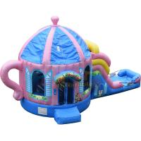 Teapot Inflatable Combo Bounce Slide Custom Made Blow Up Attractions Structures
