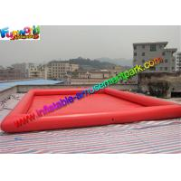 China Customized Cube Inflatable Water Pool Summer Sport Game With Air Pumps on sale