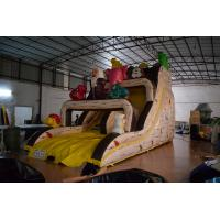 Wholesale Classic inflatable witch dry slide PVC inflatable dry slide Yellow inflatable slide with animals on it from china suppliers