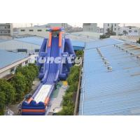 Wholesale Giant Customized 0.55 Mm Pvc Tarpaulin Inflatable Water Slide 50*14*13 m H from china suppliers