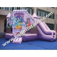 Quality Inflatable princess combo,inflatable bounce with slide for sale