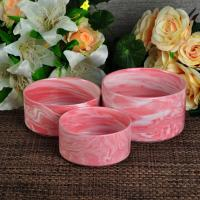 Quality Red color marble house candle holder / large modern candle holders for sale
