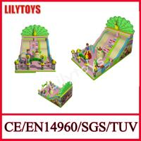 Wholesale 0.55 Mm Plato pvc New Happy Fun Peacock inflatable slide for sale certificate bt EN14960 and SGS from china suppliers