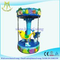 Wholesale Hansel kids indoor fiber glass carousel amusement parks games from china suppliers