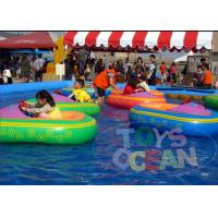 Wholesale Floating Battery Swimming Pool Bumper Boats Kids Inflatable Water Toys 0.65mm PVC from china suppliers