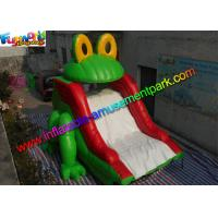 China Customized Frog Commercial Inflatable Slide , Dry Slide For Pool Use on sale